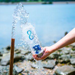 "ViA ""Infinity"" Frequency Gem Water Bottle"