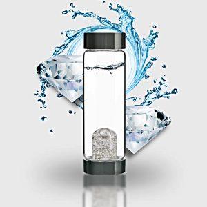"""ViA """"Diamonds"""" Frequency Gem Water Bottle"""